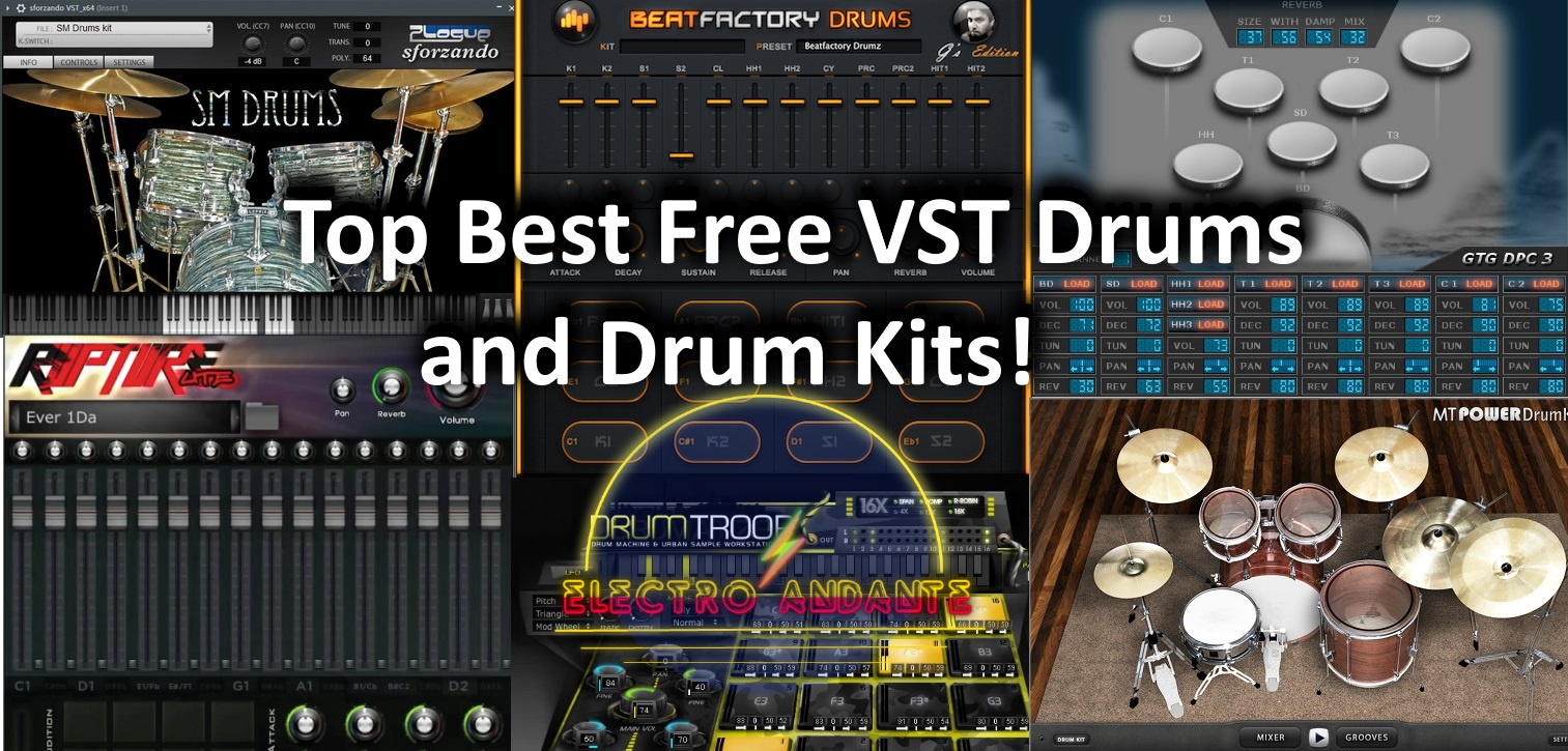 Top Best Free VST Drums and Drum Kits!