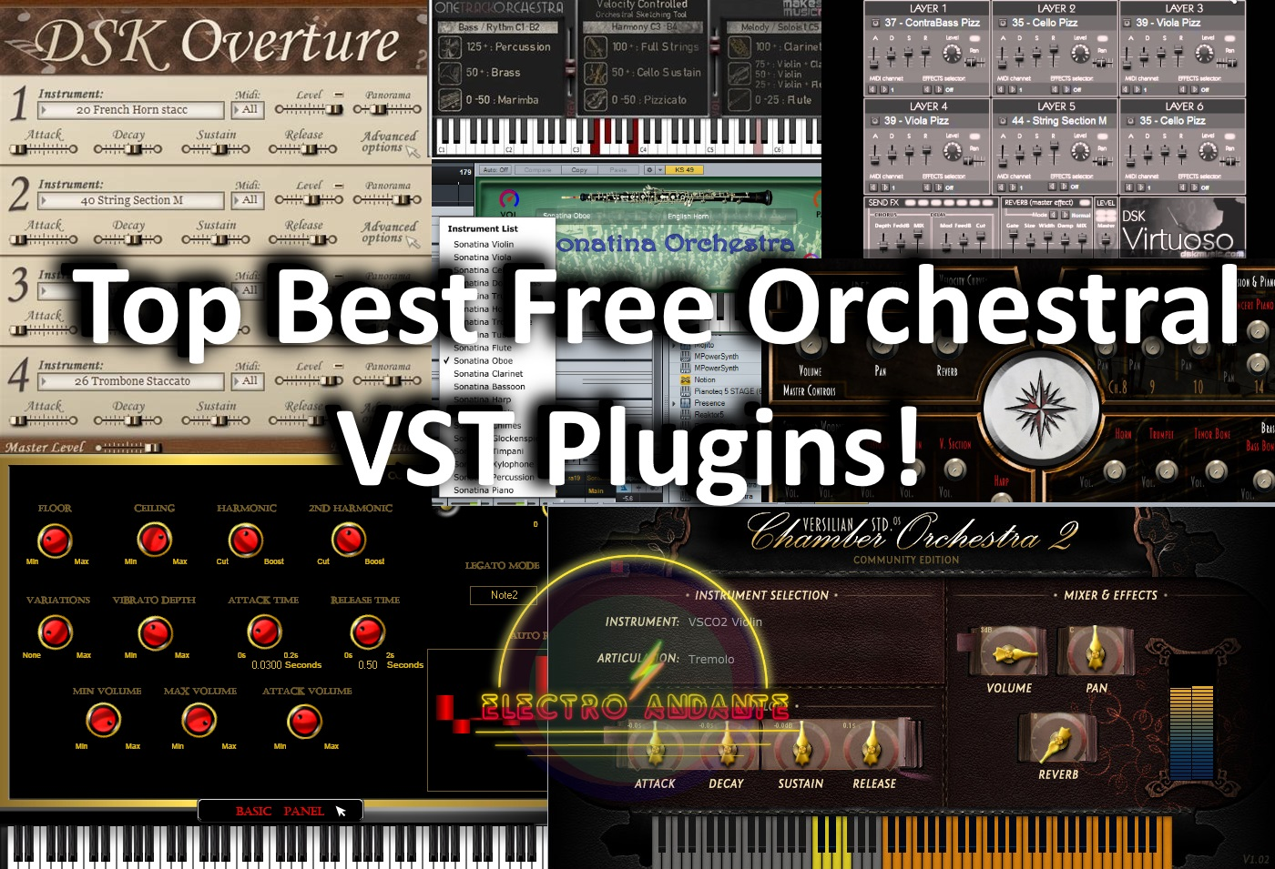 Top Best Free Orchestral VST Plugins! | Electro Andante
