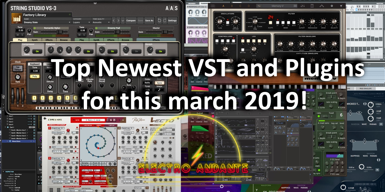 Top Newest VST and Plugins for this March 2019!