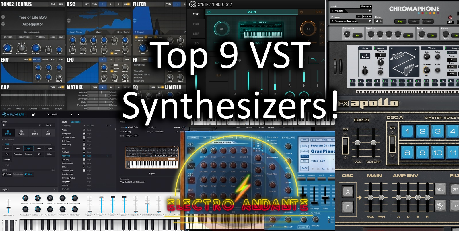 Top 9 VST Synthesizers! 2019 | Electro Andante